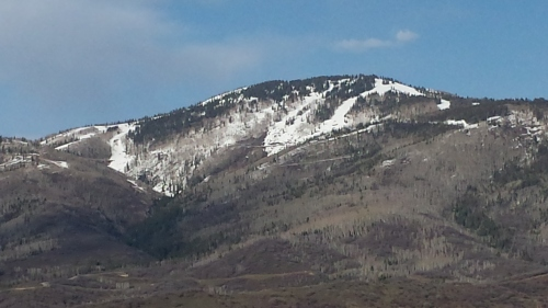 Not much snow for the last week at the Steamboat Ski Resort!